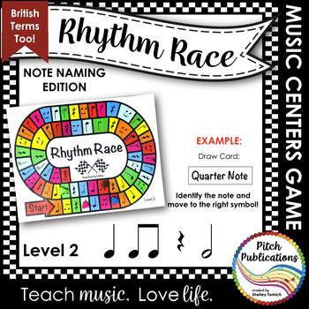 Music Centers: Rhythm Race Note Naming Edition Level 2 - Rhythm Game