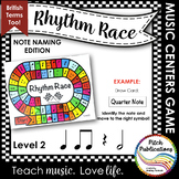 Music Centers: Rhythm Race Note Naming Edition Level 2 - R