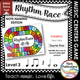 Music Centers: Rhythm Race Note Naming Edition Level 3 - R