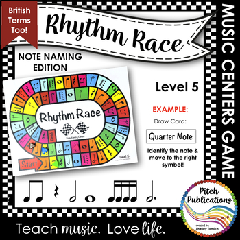 Music Centers: Rhythm Race Note Naming Edition Level 5 - R