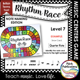 Music Centers: Rhythm Race Note Naming Edition Level 7 - R