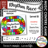 Music Centers: Rhythm Race Note Naming Edition Level 8 - R