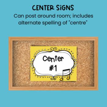 Music Centers Set {1st Grade Bundle}