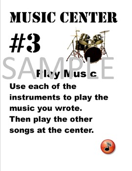 Music Centers Signs