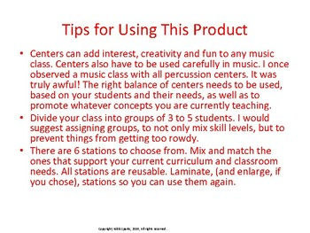 Music Centers for Grades 3-5