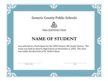 Music Certificate Generic