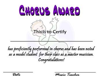 Music Certificates