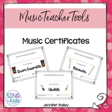 Music Certificates  {Editable}