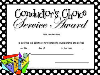 Music Certificates for End of the Year Awards -3 Designs, 46 Certificates