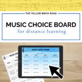 Music Choice Board Editable Template
