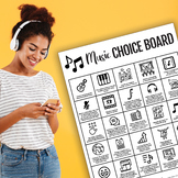 Music Choice Board for Distance Learning (Band, Choir, Orchestra)