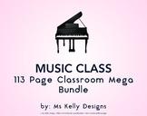 Music Class 113 Page Classroom Mega Bundle Set