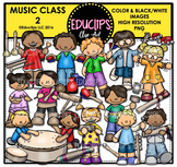 Music Class 2 Clip Art Bundle {Educlips Clipart}