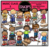 Music Class 3 Clip Art Bundle {Educlips Clipart}