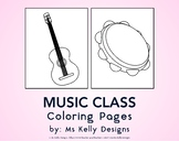 Music Class 8 Coloring Pages Set