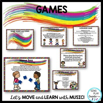Music Class Basic Curriculum of Songs, Games, Chants, Rules, Planner