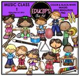 Music Class 1 Clip Art Bundle {Educlips Clipart}