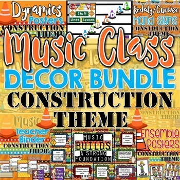 Music Class Decor BUNDLE - Construction Theme
