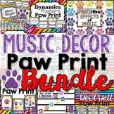 Music Class Decor BUNDLE - Paw Print Theme