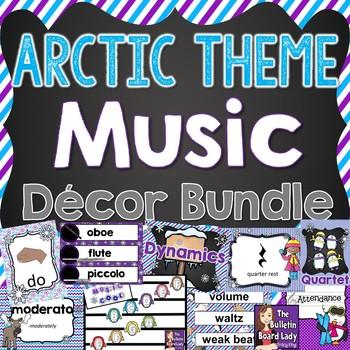 Music Class Decor Bundle - Arctic Theme