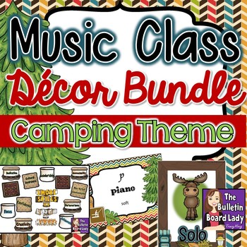 Music Class Decor Bundle - Camping Theme