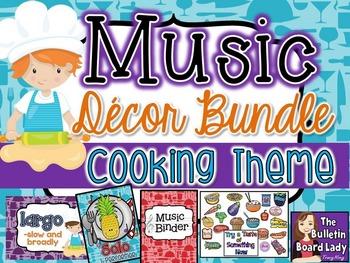 Music Class Decor Bundle - Cooking Theme