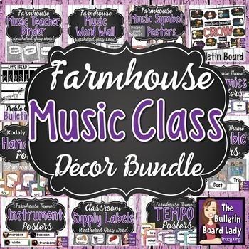 Music Class Decor Bundle - FARMHOUSE Theme