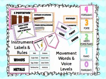 Music Class Decor Bundle - Pastel Colors