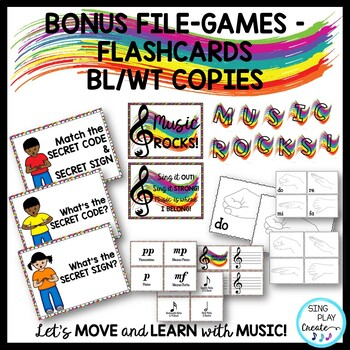 Music Class Decor Bundle: Presentation, Posters, Flashcards and Games