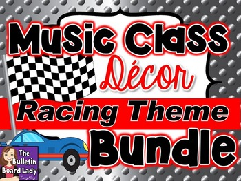 Music Class Decor Bundle - Racing Theme