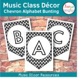 Music Class Decor - Chevron Alphabet Bunting