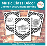 Music Class Decor - Chevron Orchestra Instrument Bunting