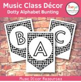 Music Class Decor - Dotty Alphabet Bunting