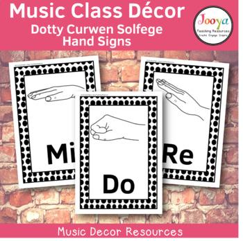 Music Class Decor -  Dotty Curwen Solfege Hand Signs