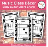 Music Class Decor - Dotty Guitar Chord Charts