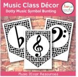 Music Class Decor - Dotty Music Symbol Bunting