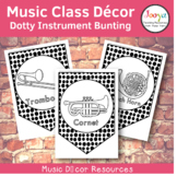 Music Class Decor - Dotty Orchestra Instrument Bunting