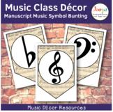 Music Class Decor -Manuscript Paper Music Symbol Bunting