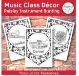 Music Class Decor - Paisley Orchestra Instrument Bunting