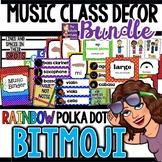 Music Class Decor - Rainbow Polka Dot BITMOJI