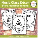 Music Class Decor - Stars Alphabet Bunting