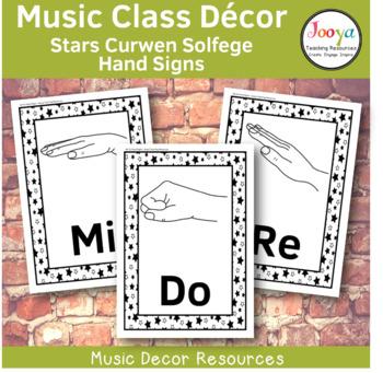 Music Class Decor -  Stars Curwen Solfege Hand Signs