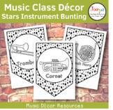 Music Class Decor - Stars Orchestra Instrument Bunting