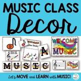 Music Class Essentials Complete Decor Bundle in Primary Colors