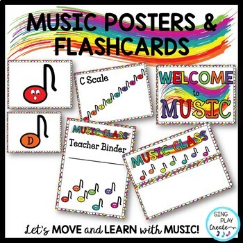 Music Class Essentials Complete Decor Bundle in Primary Colors