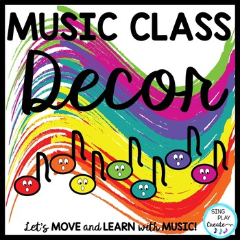 Music Class Essential Bright Decor in Primary Colors