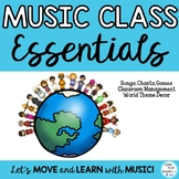 Music Class Essentials Songs, Games, Chants, Planner with World Theme Decor