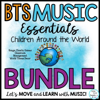 Music Class Essentials World Theme Bundle of Back to School Lessons