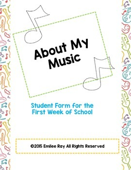 Music Class Form - Get to Know You