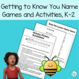 "Music Class ""Getting to Know You"" Name Games and Activitie"